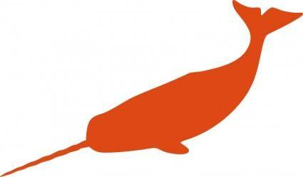 free vector Large narwhal
