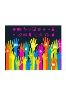 free vector Media hands