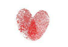 free vector Heart fingerprint