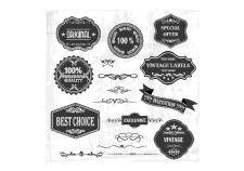 free vector Vintage labels and ornaments