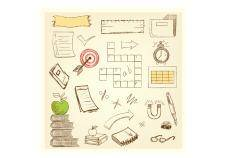 free vector Doodle education