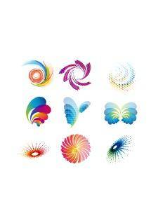 Abstract wave icons