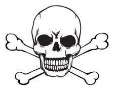 free vector Skull and crossbones