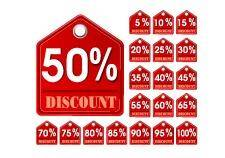 free vector Red discount tags