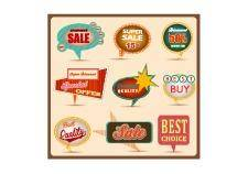 free vector Retro speech bubbles