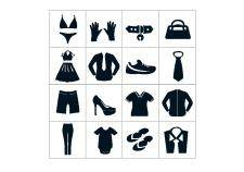 free vector Black department store clothing icons