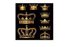 free vector Gold crown set