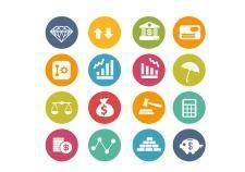 Finance icons | circle series