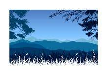 free vector Mountains landscape