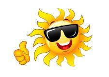 free vector Thumb up sun