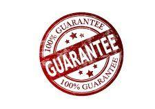 Guarantee stamp - stock image