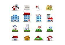 free vector Real estate set2 - color series