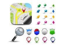 free vector Map pins