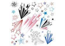 free vector Hand drawn star shape design elements