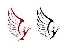 free vector Falcon and eagle mascots