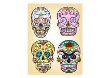 free vector Day of the dead vector illustration set