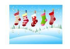 free vector Christmas socks