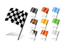 free vector Set of racing flags