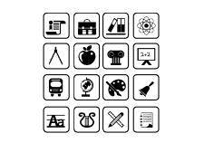 free vector School and education icons