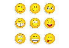 Set of nine smileys 133554