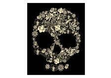 free vector Floral skull