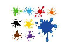 free vector Paint splats