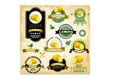 Vintage lemon labels