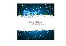 free vector Christmas greeting card with gift boxes