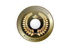 free vector Golden crown golf club shield