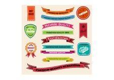 free vector Retro vintage badges and labels