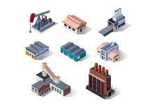 free vector Industrial buildings