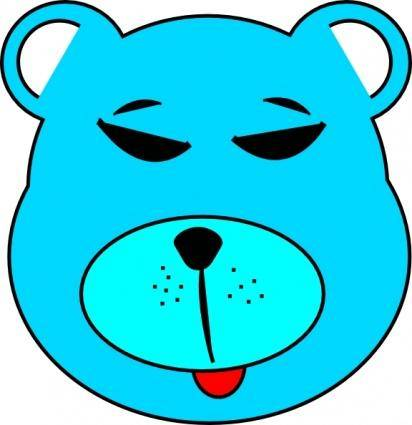 free vector Blue Bear clip art