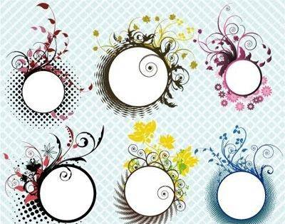 free vector Floral frames