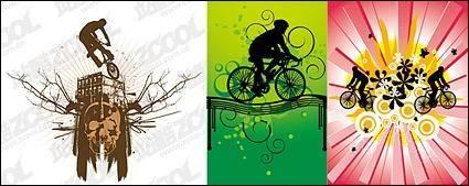 3, bike vector material