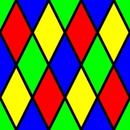 free vector Diamond Harlequin 3 Pattern clip art