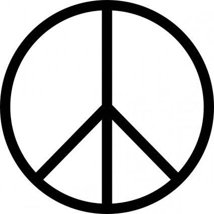 free vector Peace Symbol clip art