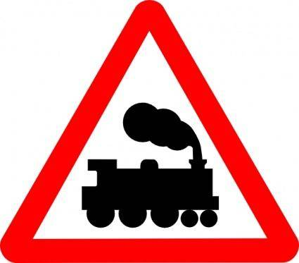 Train Road Signs clip art