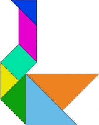 Tangram Puzzle clip art