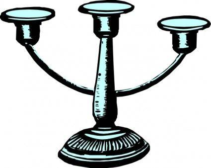 Antique Candleholder clip art