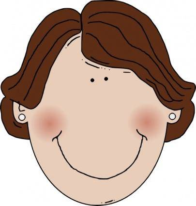 free vector Middle Aged Woman Brown Hair clip art