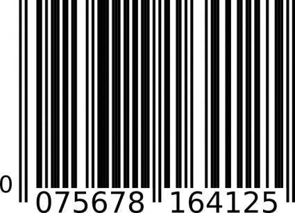 free vector Ean-13 Bar Code clip art