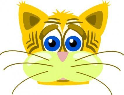 Peterm Sad Tiger Cat clip art