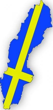 Sweden Flag In Sweden Map clip art 119860