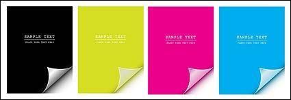 free vector Angular vector material cmyk paper
