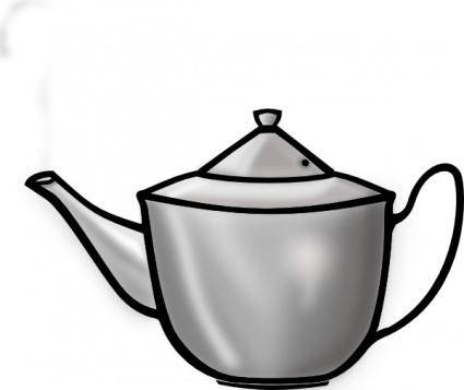 Printerkiller Metal Tea Pot clip art