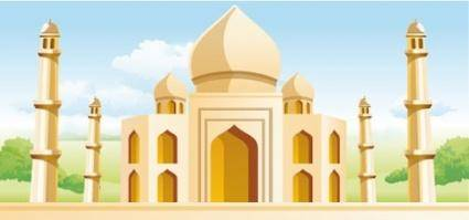 free vector Taj Mahal