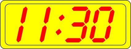 Digital Clock 11:30 clip art