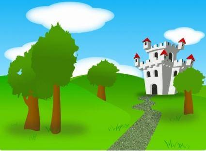 free vector Cartoon Castle clip art