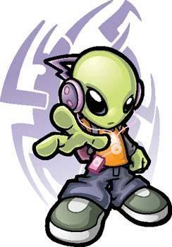free vector Cool Alien Vector