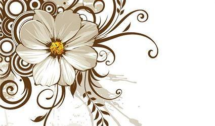 free vector Wild chrysanthemum and fashion pattern